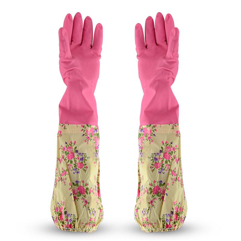 接袖保暖手套